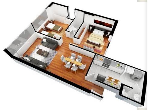 Planos casas 3d diseno de casas 2016 for Planos de casas pequenas en 3d