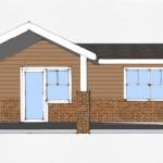 Plano de Casa Pequeña de 45 m2