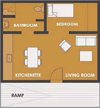Plano de casa peque a de 45 metros cuadrados - Calentar habitacion 20 metros ...