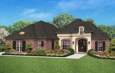 Construccion estilo frances for Casa tipo ranch
