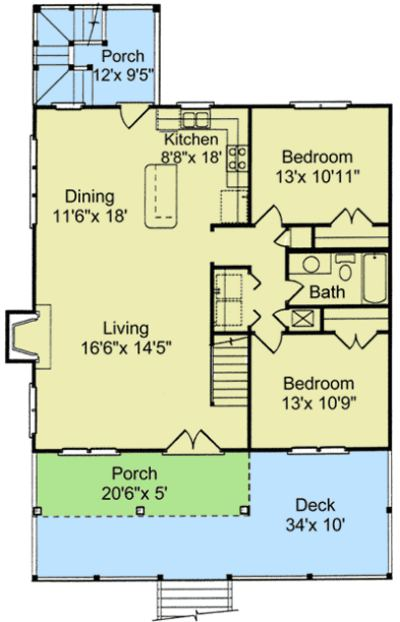 Planos de casas elevadas for Planos para viviendas