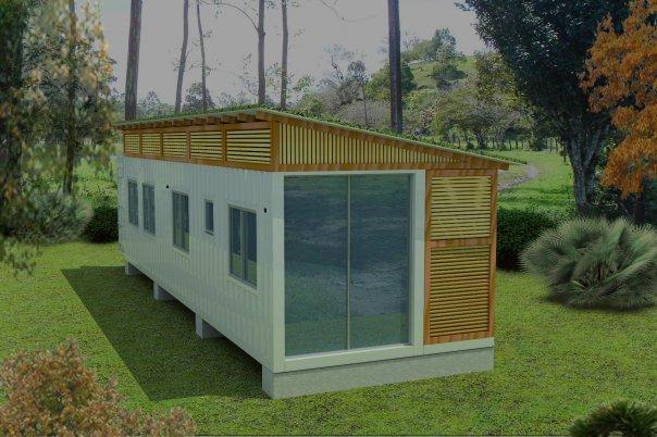 Mini casa contenedor 1 - Como hacer una casa con un contenedor maritimo ...