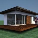 Cabañas Modernas de 34 m2 para turismo