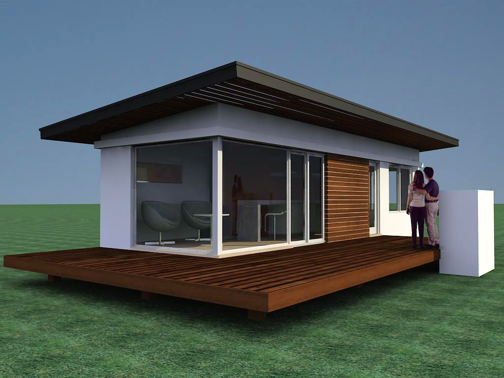 Plano caba as modernas de 34 m2 for Ideas para construccion de casas pequenas