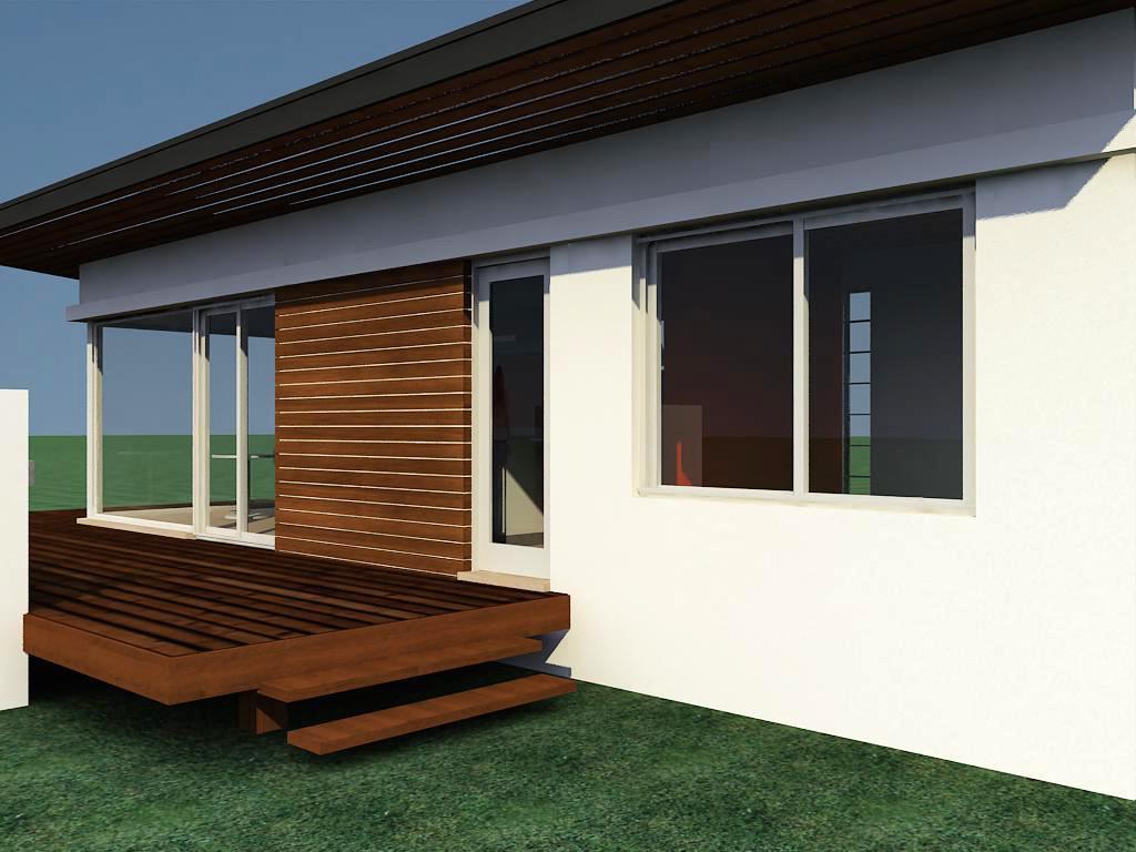 Caba a con materiales 2 for Mini casas modernas