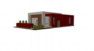 Planos de Casa Pequeña Estilo Moderno 3