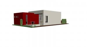 Planos de Casa Pequeña Estilo Moderno 4