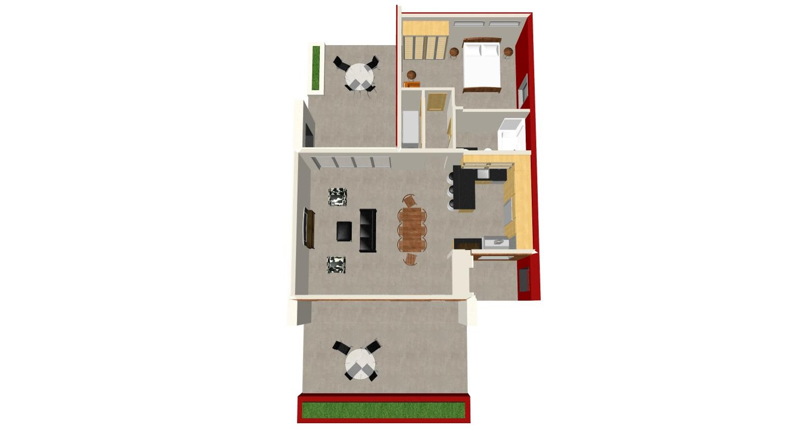 como hacer una casa pequena en un terreno en escuadra