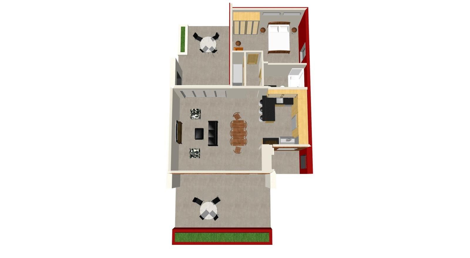 Planos de casa de 6x20 planos de casas for Planos de casas pequenas de una planta