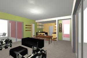Planos de Casa Pequeña Estilo Moderno interior