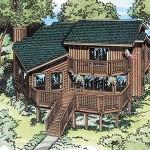 Plano de casa Dúplex Contemporáneo
