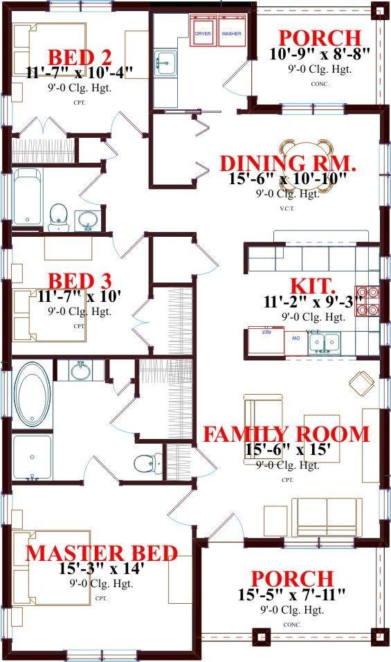 Casa de tres dormitorios muy confortable for Cuarto de 10 metros cuadrados