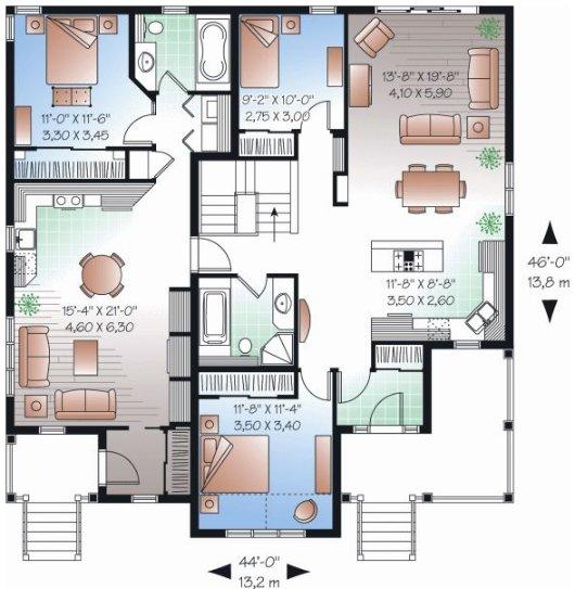 Casas pequenas rusticas de doble planta planos de casas - Planos faciles de casas ...