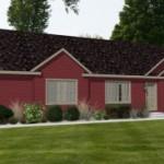 Planos de Casa Prefabricada de tres dormitorios y dos baños