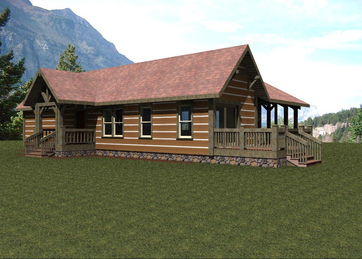Modelo De Casa Rustica De Montana