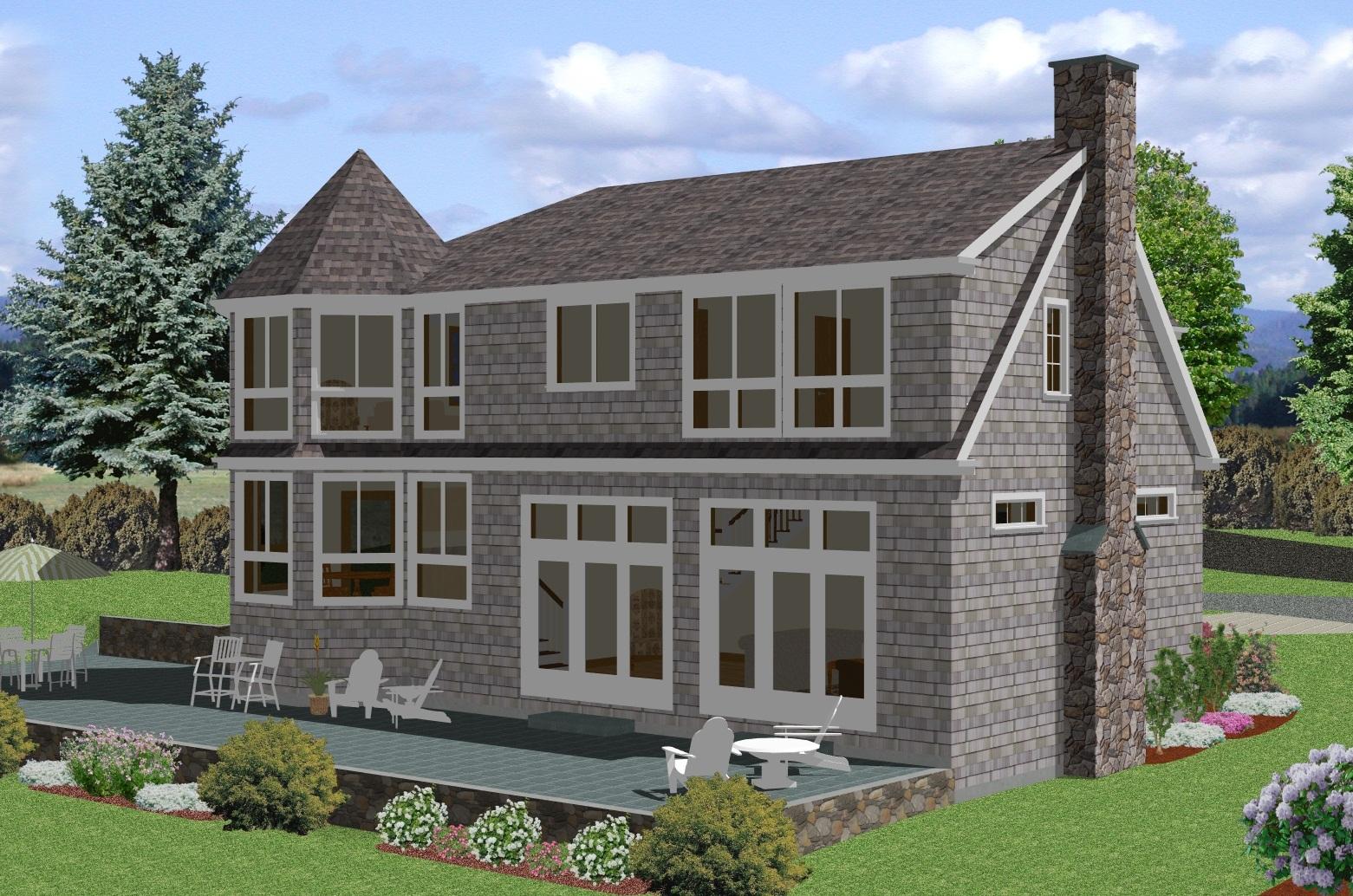 Modelo de vivienda americana tradicional atras for Modelos de viviendas