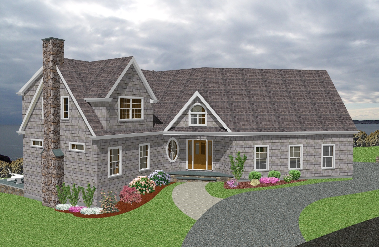 Casa americana de dos niveles for Fachadas de casas estilo americano