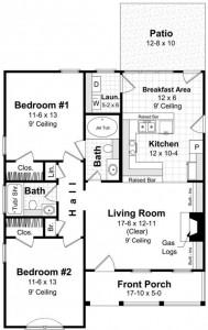 Construir casa de 8 metros por 10 de largo planos de casas for Casa moderna 8x20