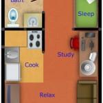 Planos de casa Pequeña Mono ambientes