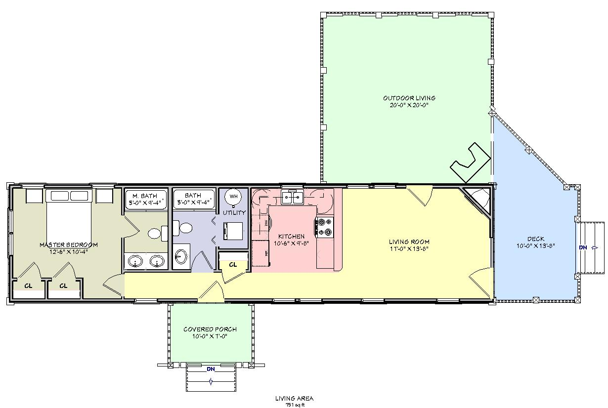 Planos de casa rustica de montana con medidas en pies for Planos de casas con medidas