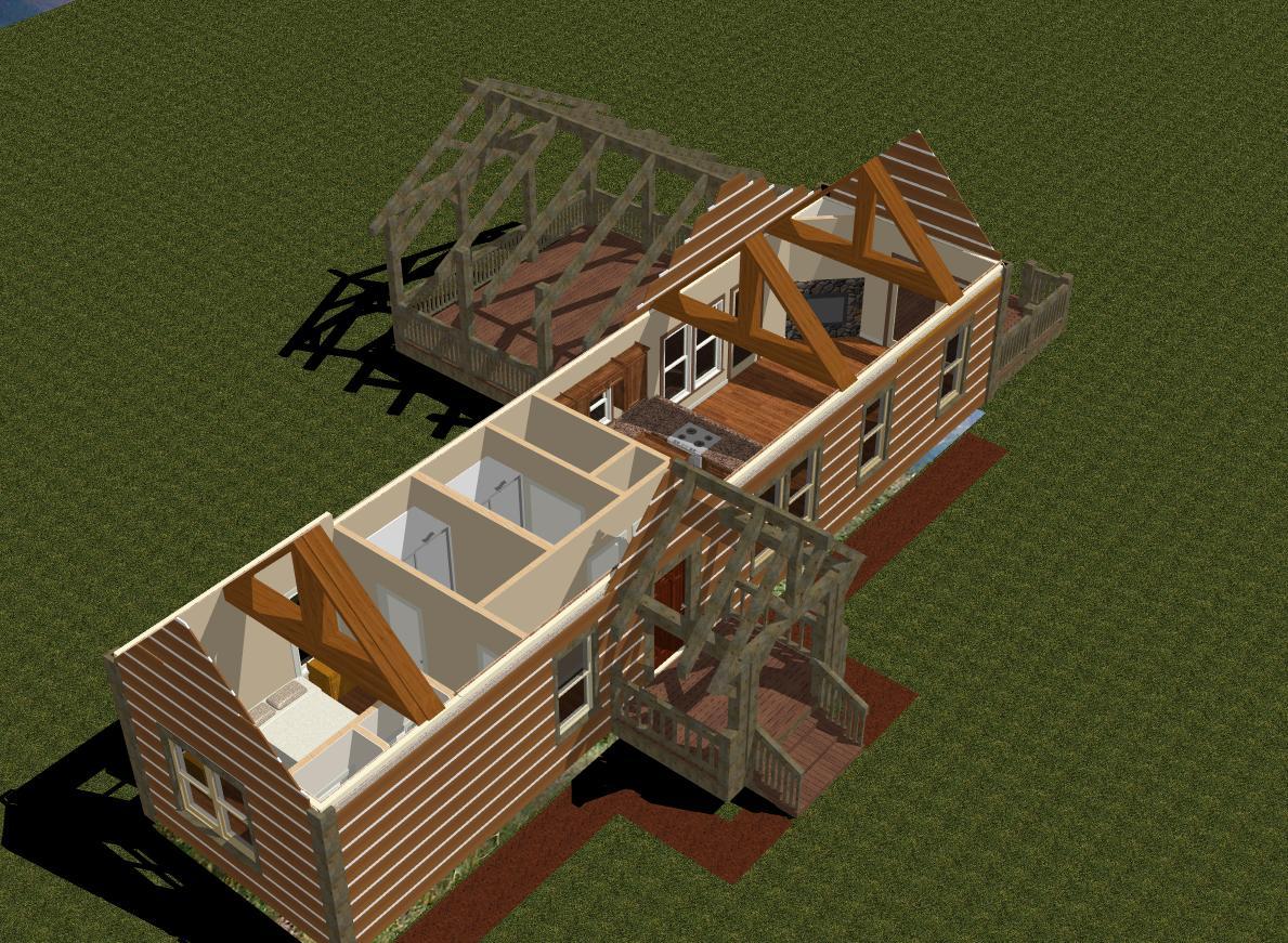 Planos de estructura de casa rustica de montana - Fotos de casas en forma de l ...