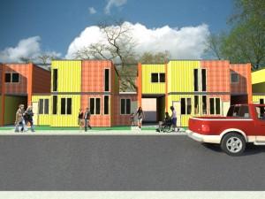Modelado de viviendas con contenedores
