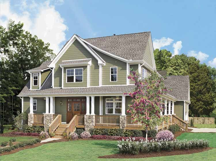 Vivienda estilo ingles for Country style house plans with porches