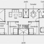 Casa de tres dormitorios y jardín