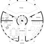 Plano de casa circular