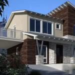 Planos de Casa Moderna de dos niveles