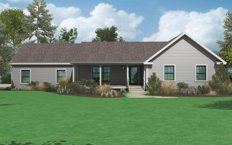 Planos de casas de 3 habitaciones for Casas modernas un nivel