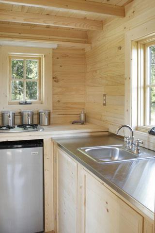 Cocina casa de madera rodante
