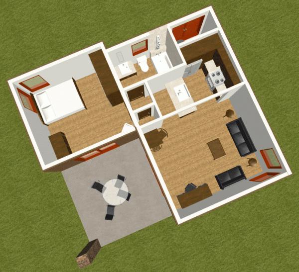 imagen superior de casa invitados