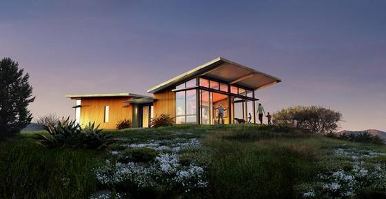 Como hacer una prefabricada de madera en el techo de la for Casas modernas techos inclinados