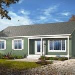 Plano de casa de 3 dormitorios 110 metros cuadrados