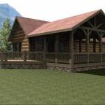 Casa de montaña pequeña de una habitación