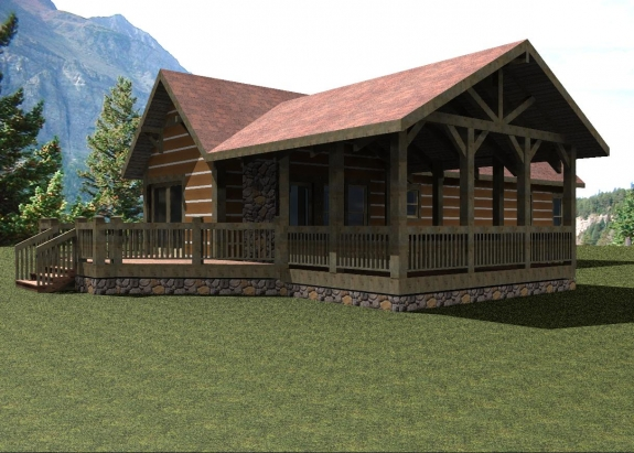 Cabanas de montana pequenas - Planos de casas de campo rusticas ...