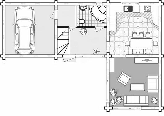 Casas ecol gicas planos de casas for Sala de estar vista desde arriba