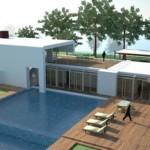 Casa ecológica estilo minimalista de 3 dormitorios
