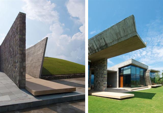 Dise o de casa exc ntrica y muy moderna for Diseno exterior de casas modernas