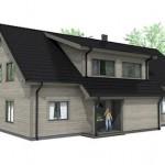 Casa estilo europeo de 4 dormitorios