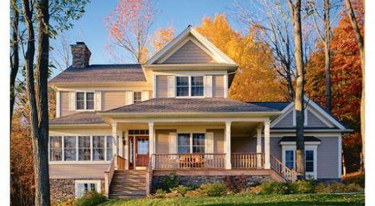 Modelos de techos americano planos de casas for Casas estilo americano