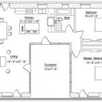 Vivienda de 2 dormitorios y patio central