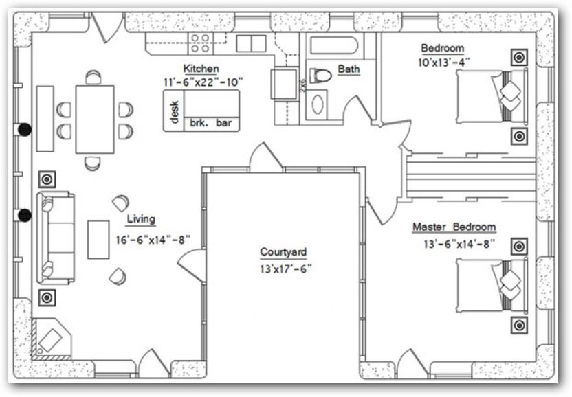 Casa con patio central
