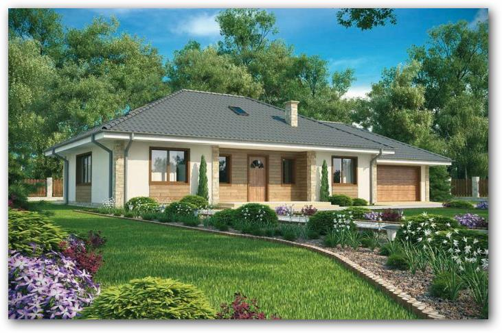 Fachada casa rustica