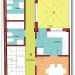 Plano de vivienda con solarium
