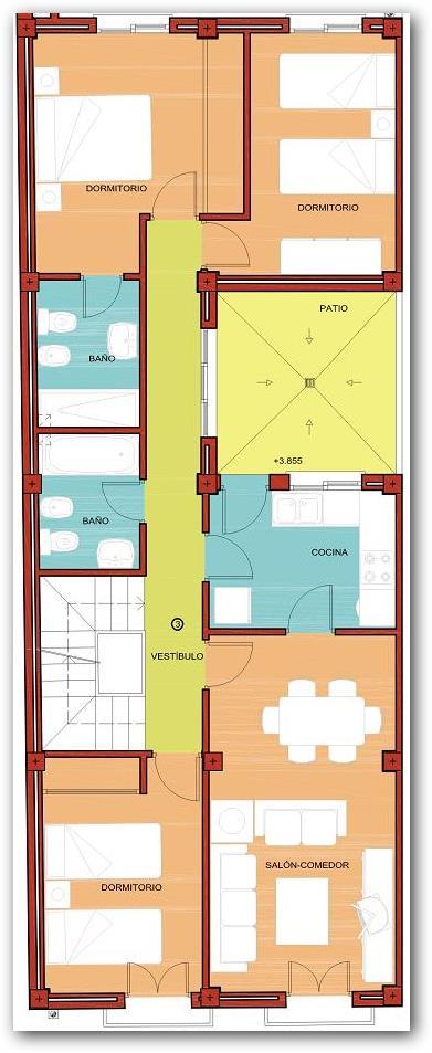 Diseno vivienda de 8x12 planos de casas for Planos de casas 6x20