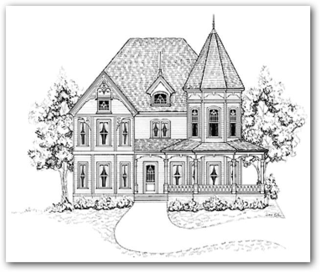 Fachada de casa victoriana
