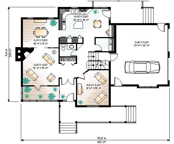 Casa estilo americano for Planos de cocinas tipo americano