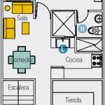Plano para complejo de departamentos en terreno pequeño